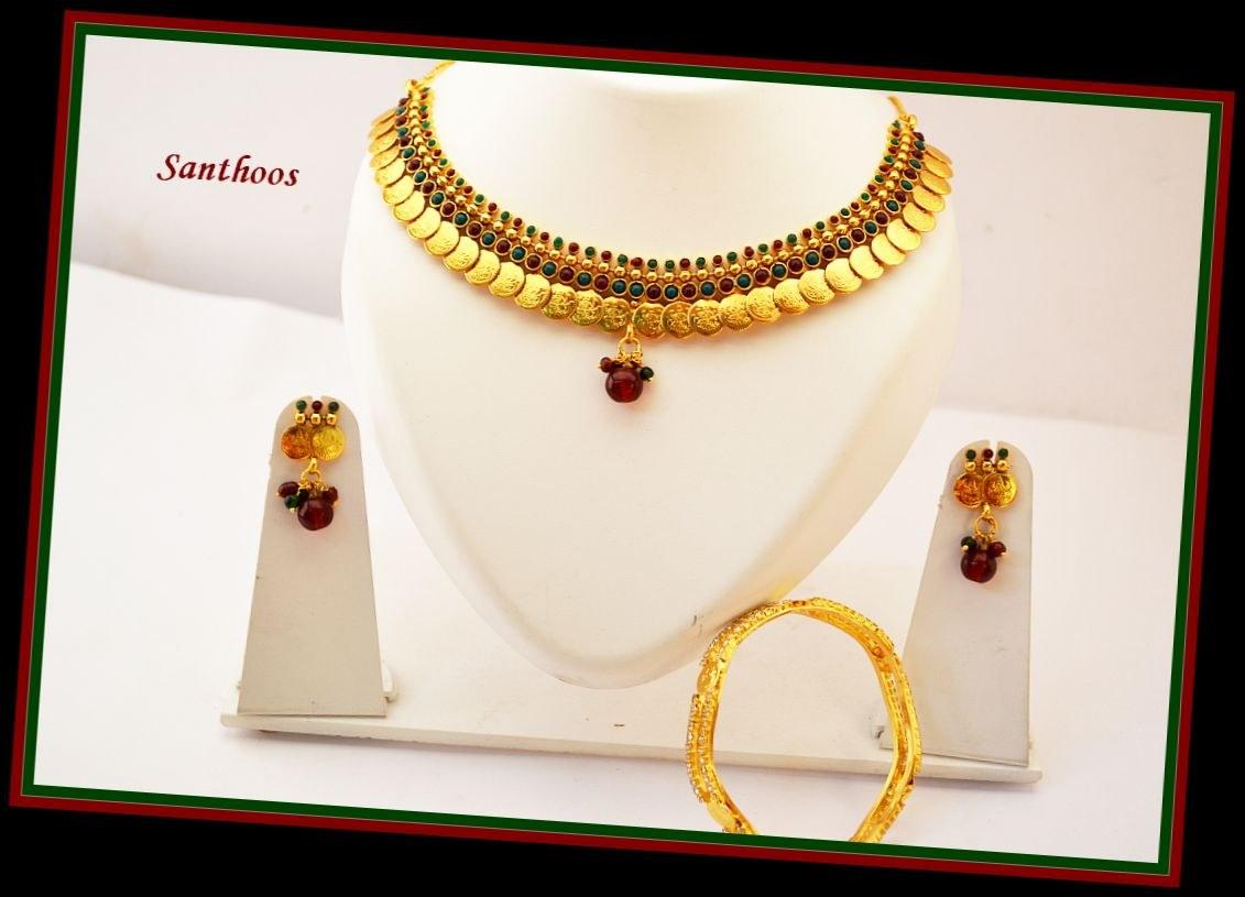 Traditional Kerala Style Kasumala Set-Online Shopping-