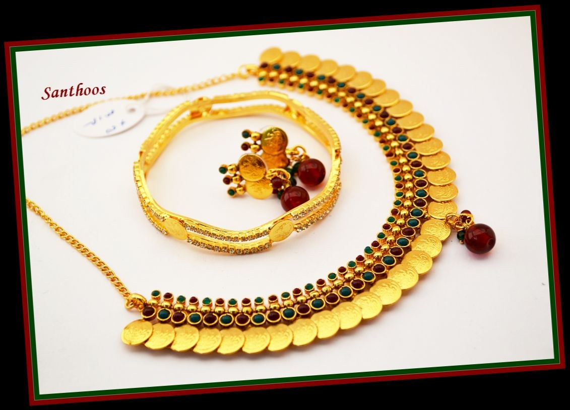 Traditional Kerala style Kasumala set (ii)-Online Shopping-