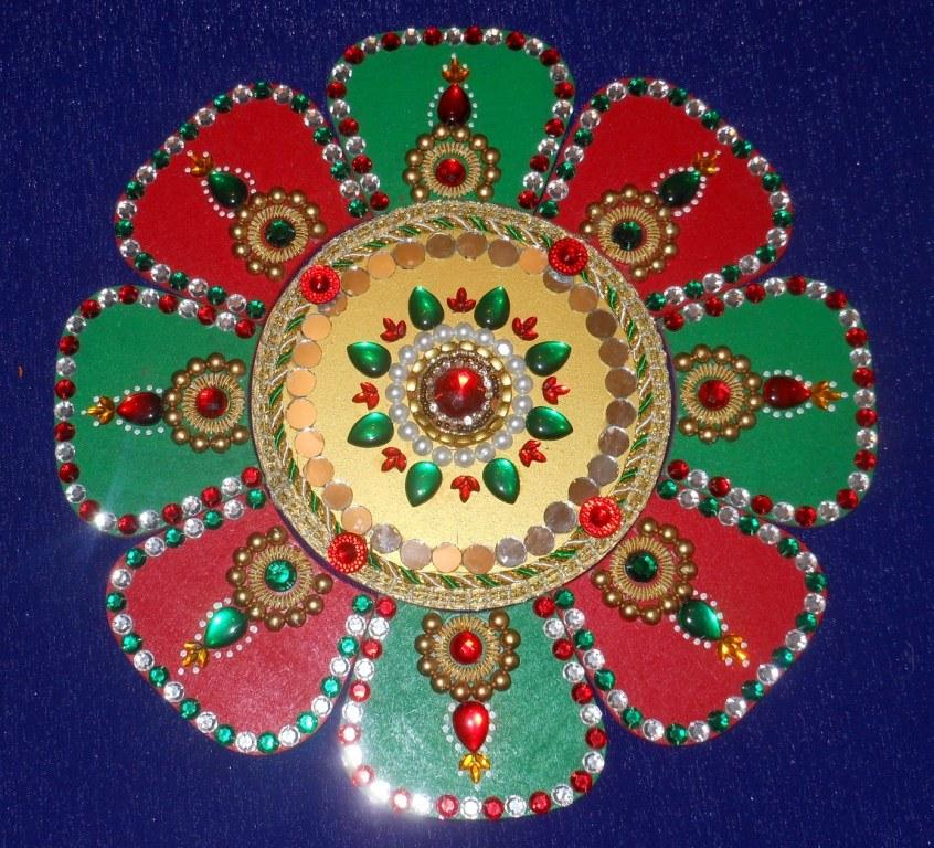 Folding rangoli online shopping for Door rangoli design images new