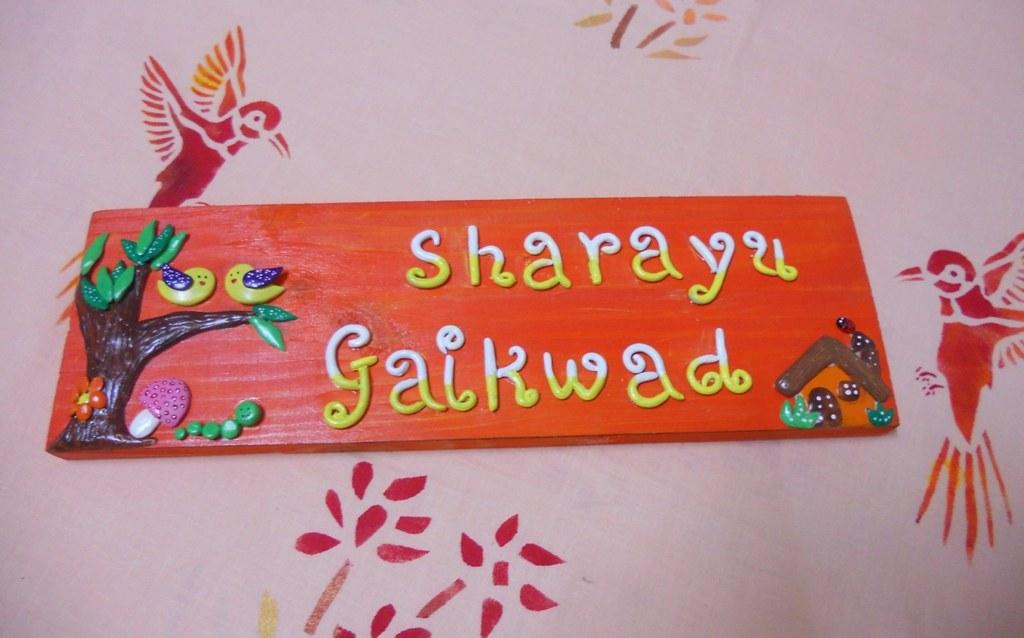 Handmade wooden door name plate Online Shopping