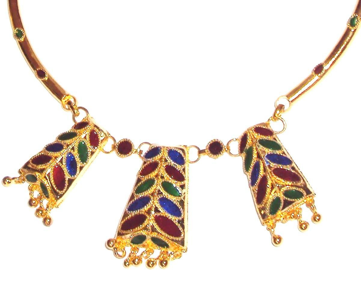 Ethnic handmade indian assamese gold jewellery dhansira for East indian jewelry online