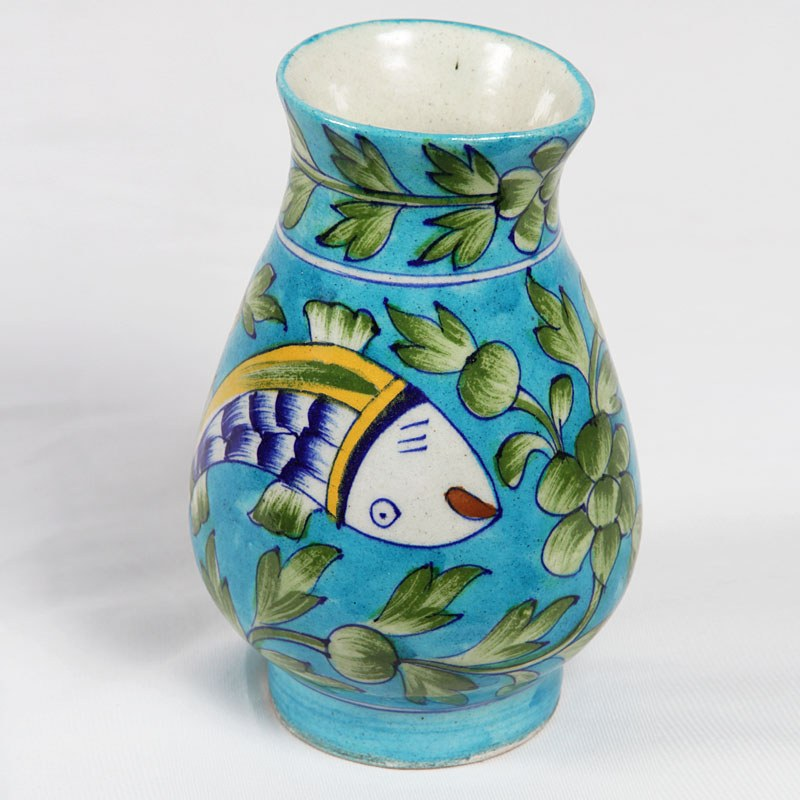 Colours a blue pot fish designed is an awesome piece of blue pottery