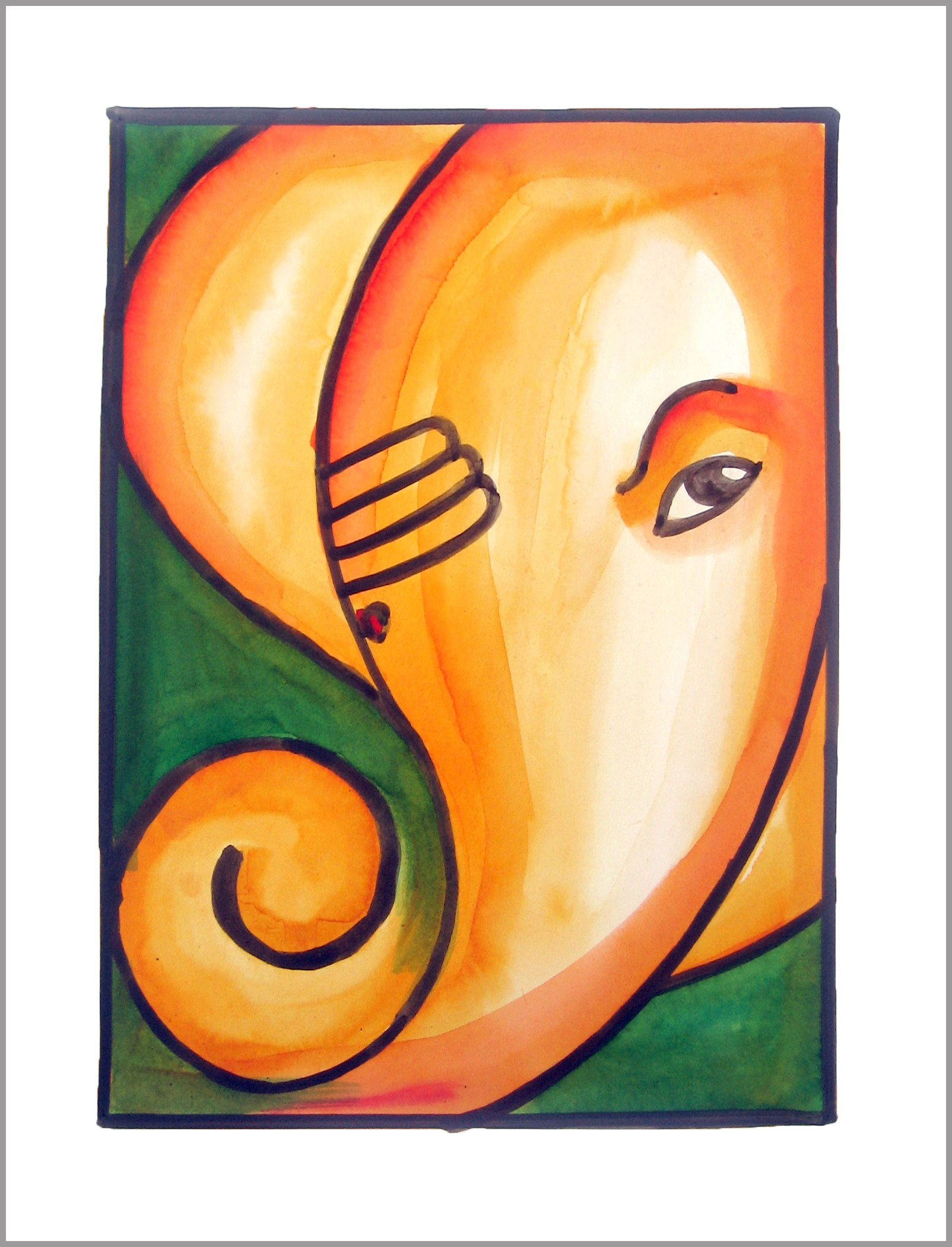 Lord Ganesha Paintings Art Painting of Lord Ganesha