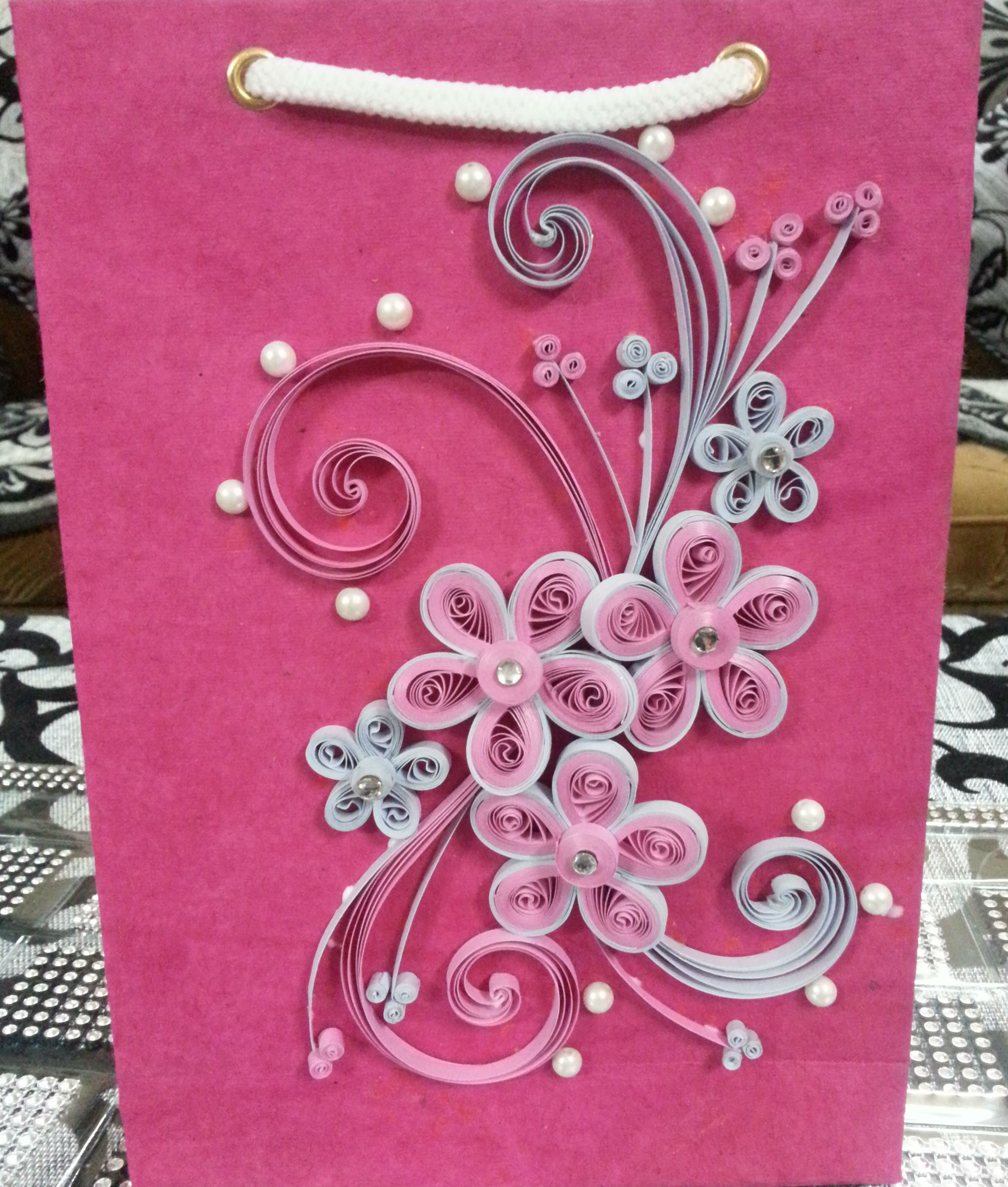 Handmade quilled Gift Bags- Paper Quilling-Online Shopping-