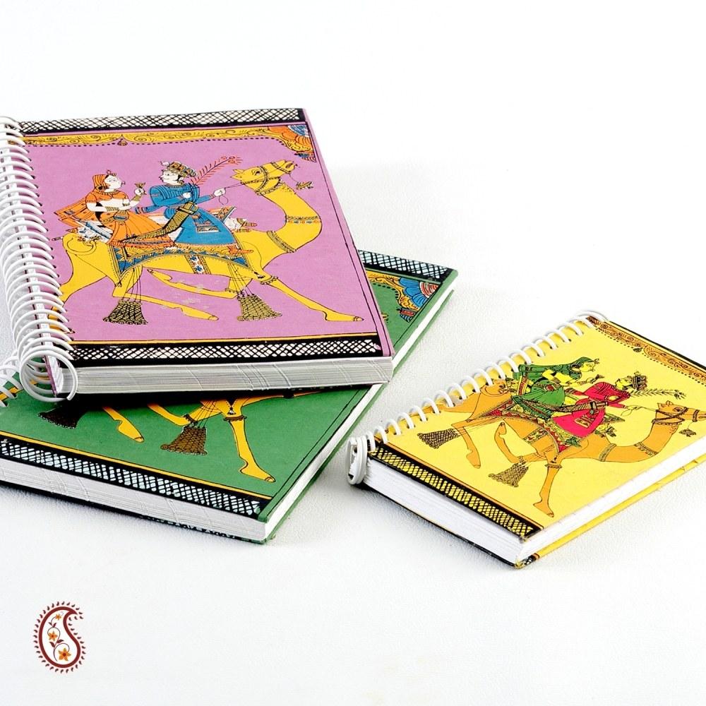 Hand painted Spiral Binding Ethnic Handmade Diary set