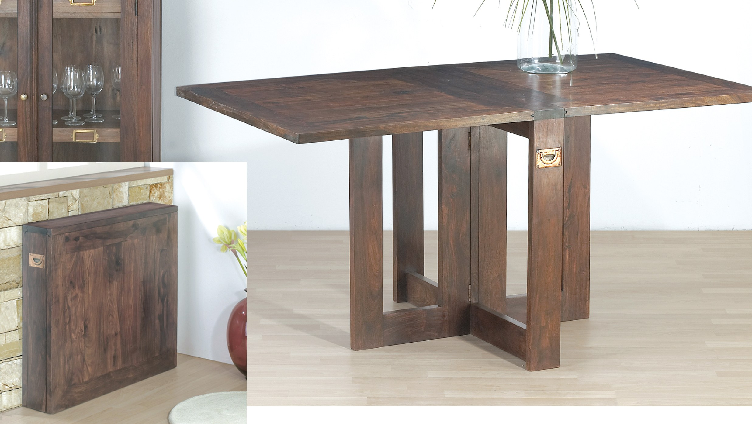 Folding dining table online shopping for Dining table compact designs