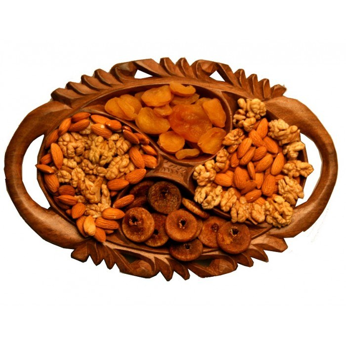 Finely carved fruit basket online shopping