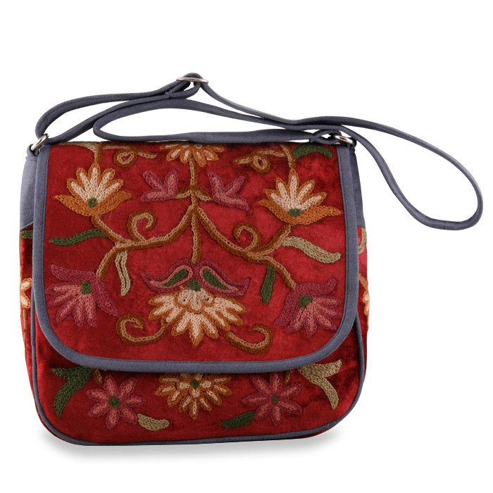 Kashmiri maroon sling bag online shopping