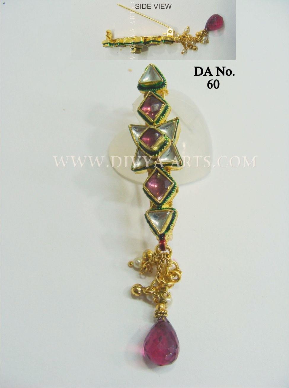 Elegant Kundan Saree Pin/ Brooch-Online Shopping-