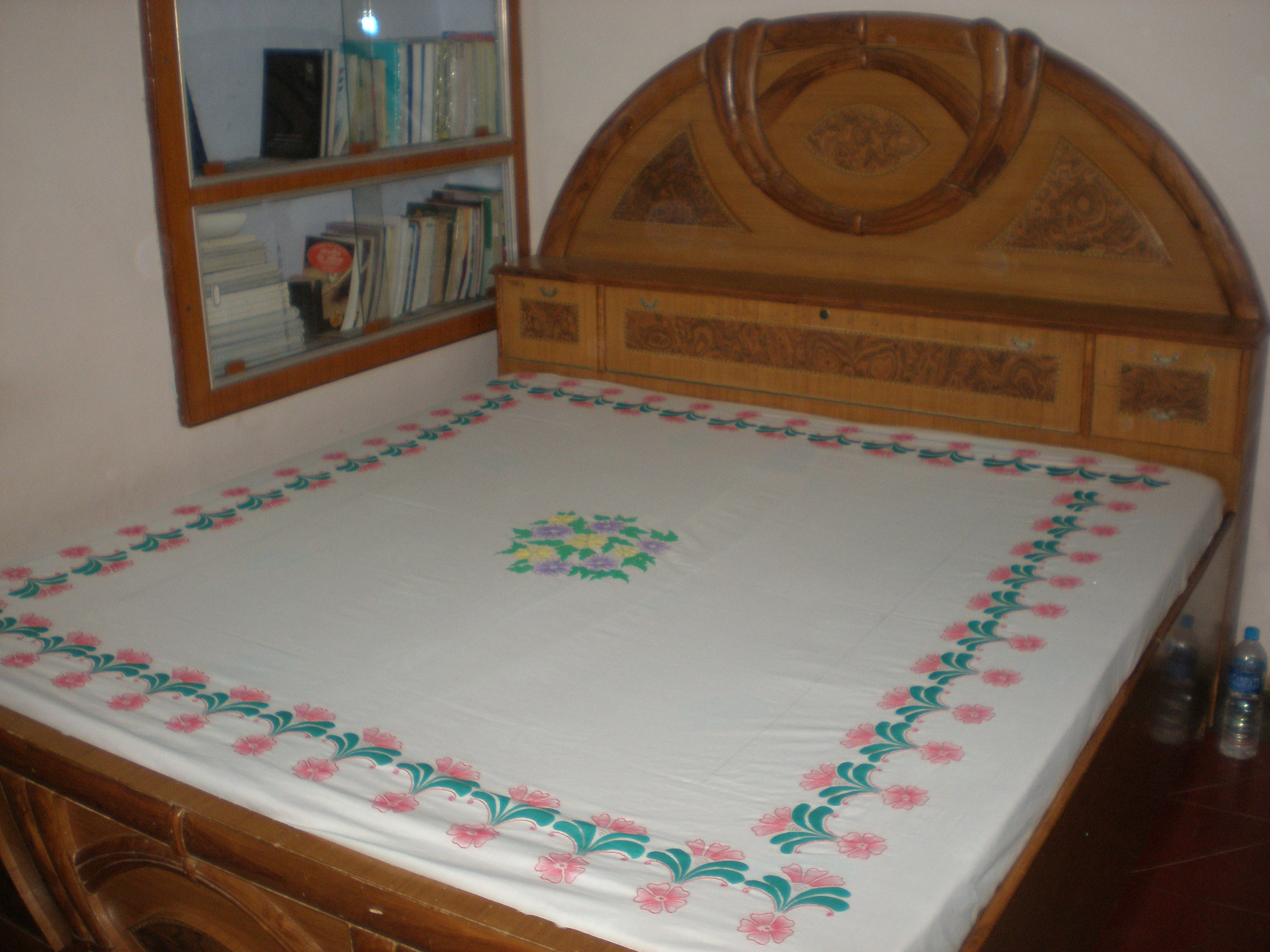 Bed sheets designs fabric painting - Fabric Painting One Double Bedsheet 2