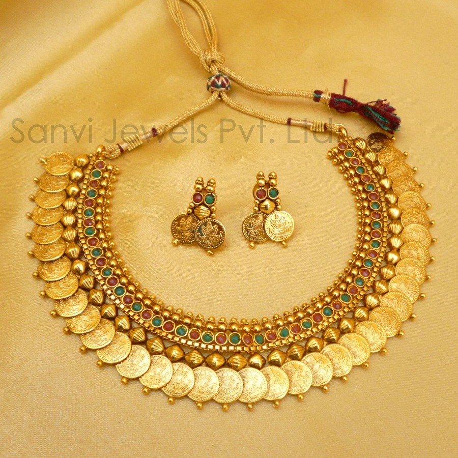 Temple Jewellery Coin Necklace Online Shopping