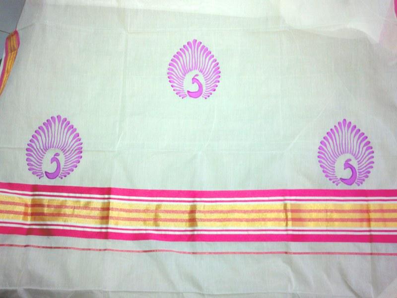 Fabric Painting Saree Border Designs Ideas