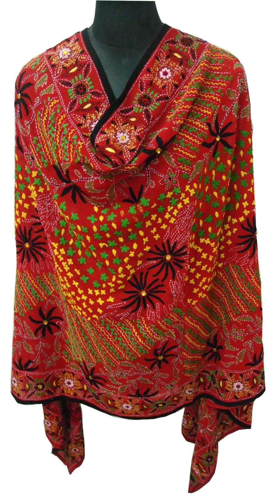 Hand embroidered phulkari chunni or dupatta online shopping