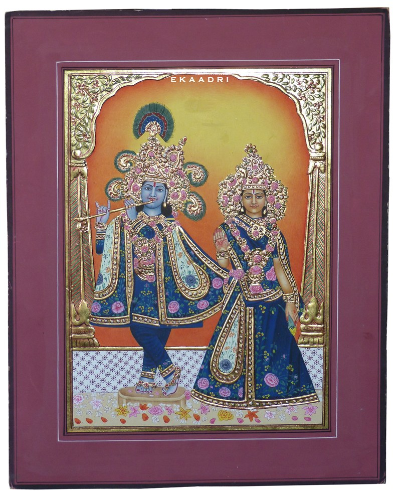 Krishna Radha Miniature Paintings Radha Krishna Miniature Gold