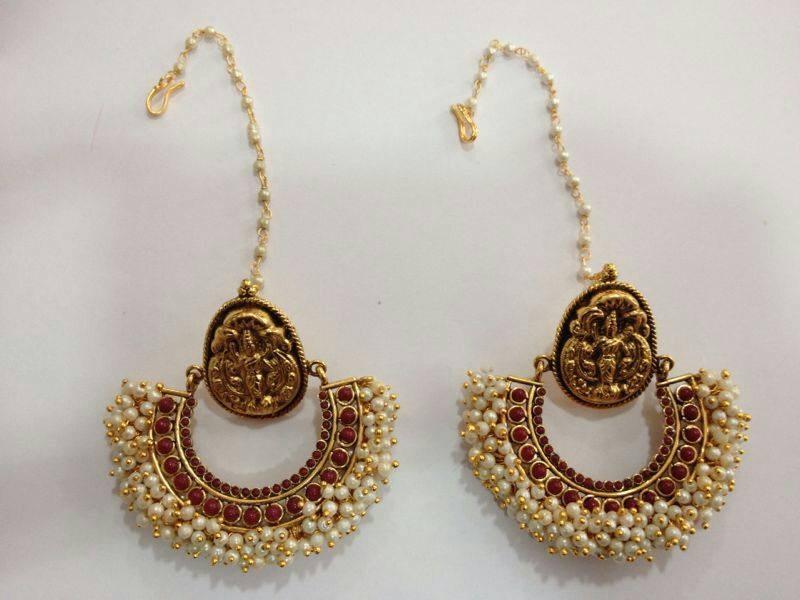 Ram Leela Pearl Earrings-Online Shopping-