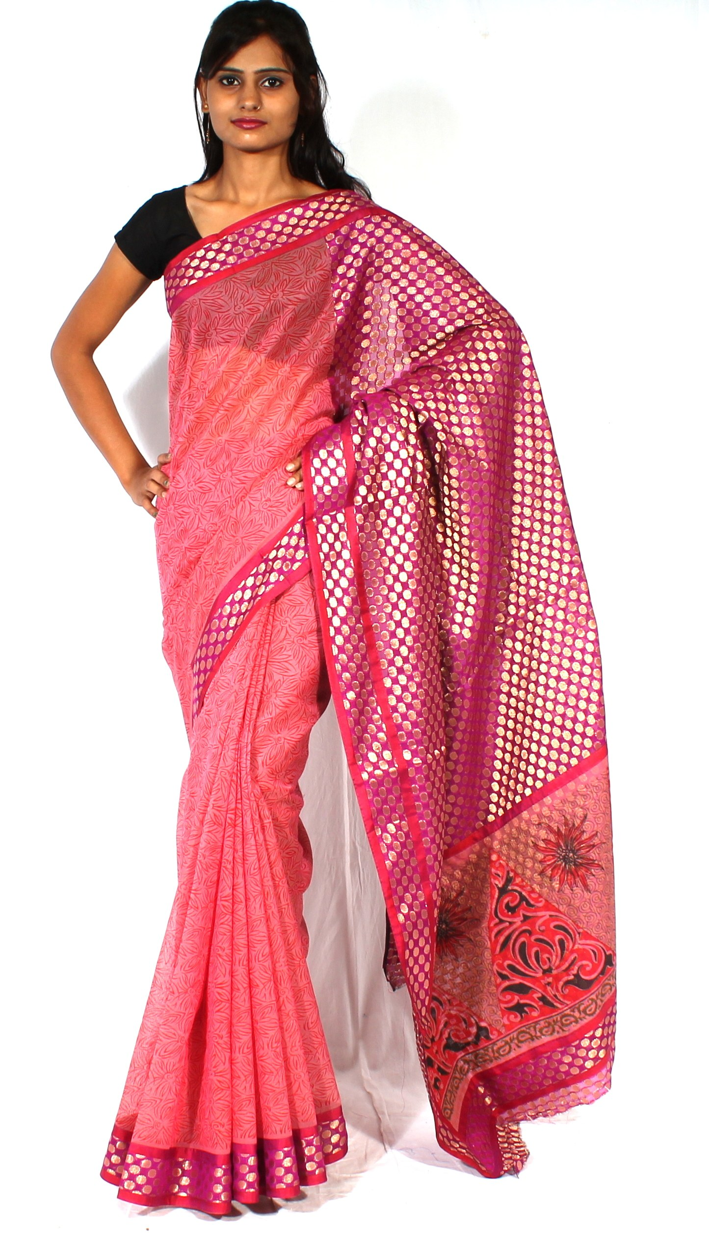 how to make saree pallu design