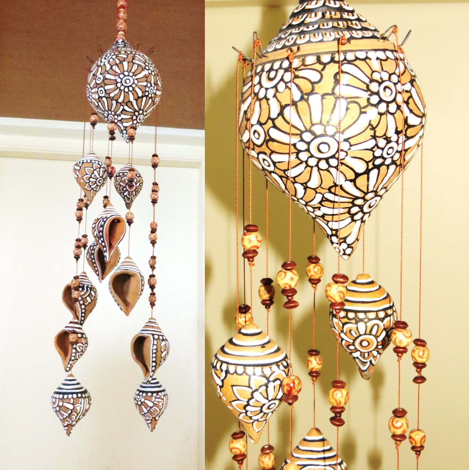 Terracotta shell hanging online shopping for Home decorative accessories shopping