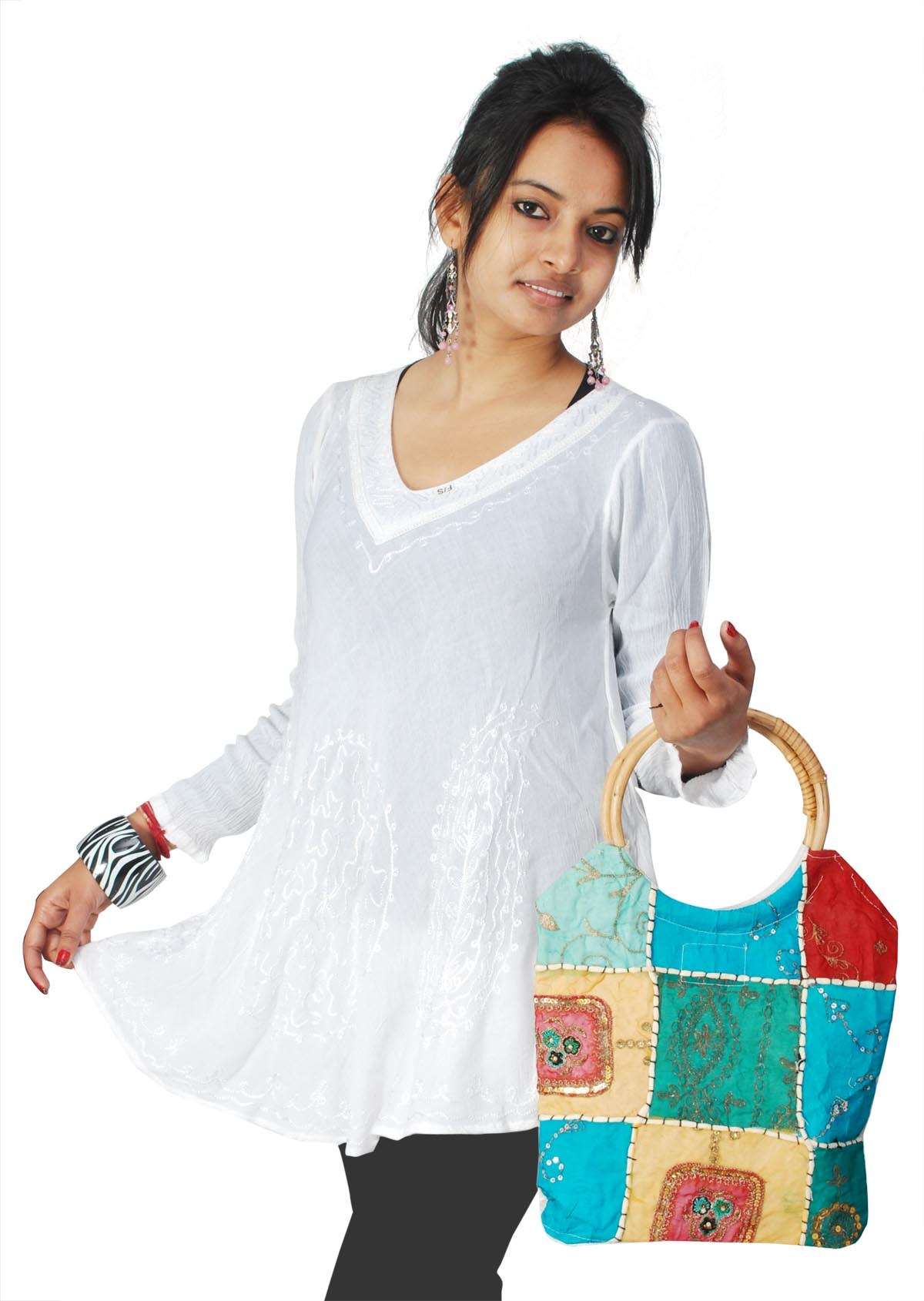 designer cotton tops for girls