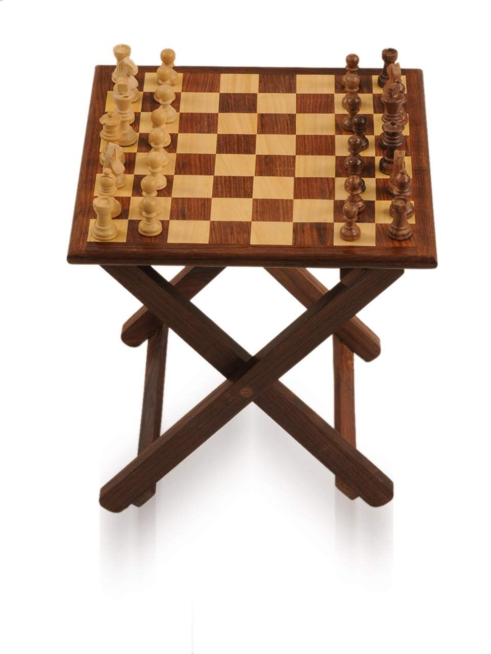 Folding wooden chess table with magnetic coins online shopping - Wooden chess tables ...