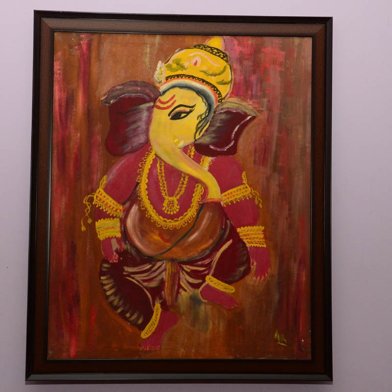 Ganesha Oil Painting-Online Shopping-