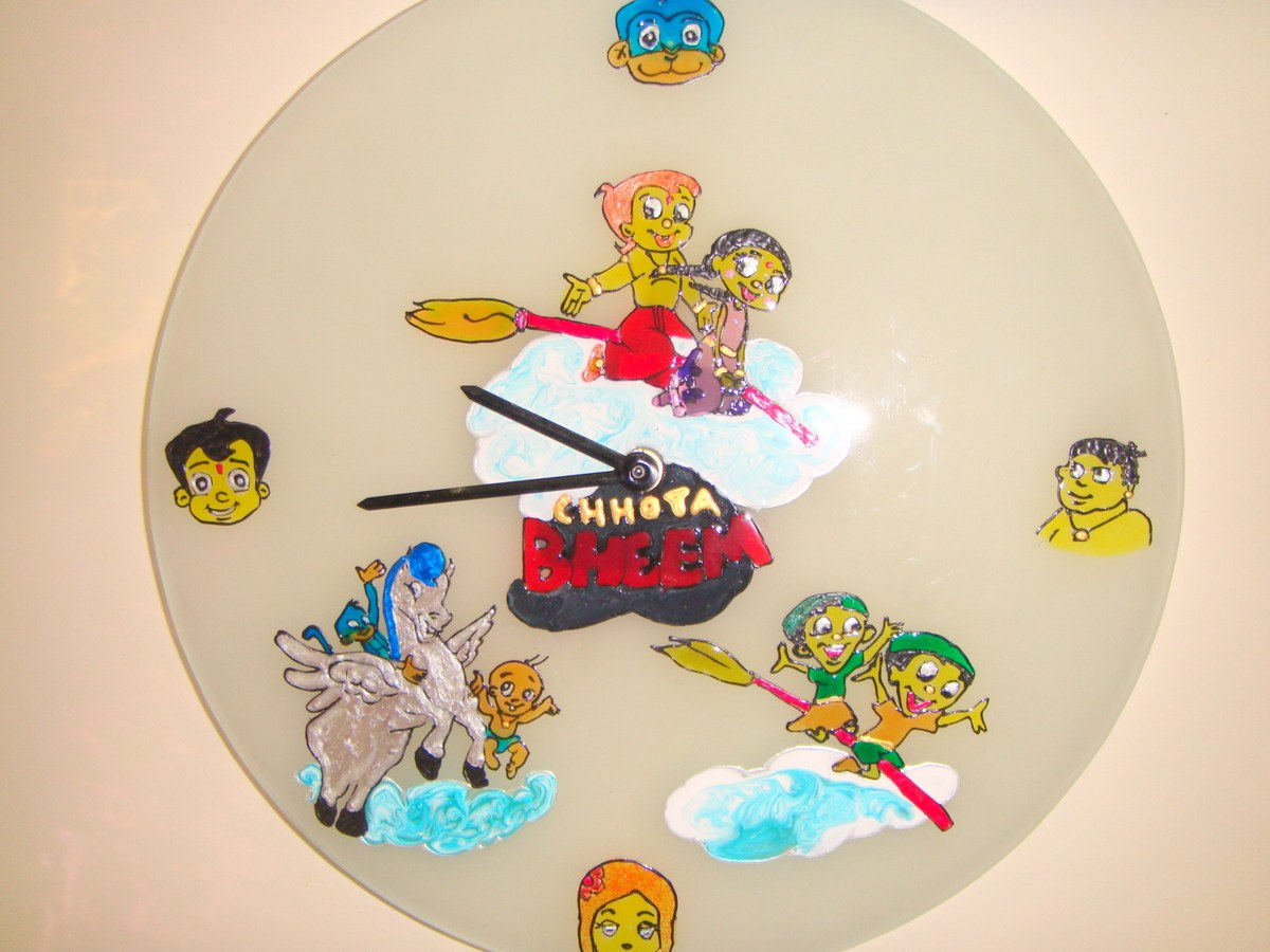 Characters Wall Clock Designer Kids Wall Clock