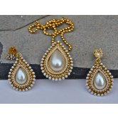 Pearl pendant set with chain available at Craftsvilla for Rs.1050