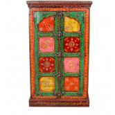 Wooden Hand Painted Book Cash Almirah # A432 available at Craftsvilla for Rs.7999